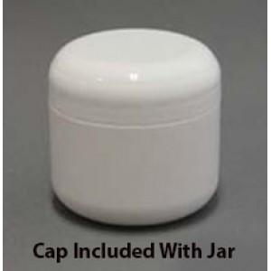 2 OZ Double Wall Jar (White)