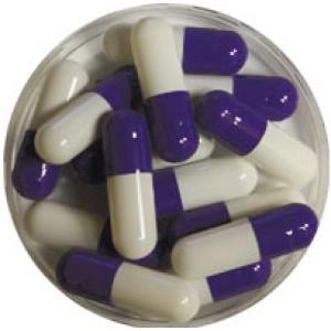 Purple & White Capsules 00