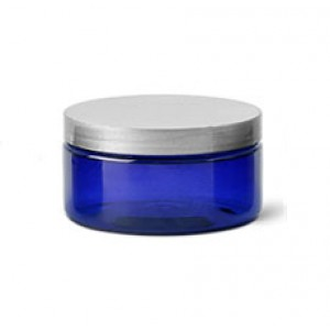 2 OZ Blue Jar With Silver Cap (60 ml)