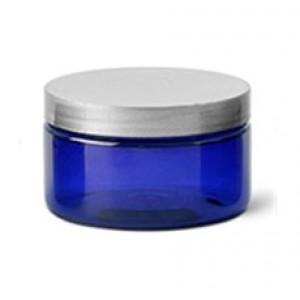 4 Oz Blue Jar With Silver Cap (120ml)
